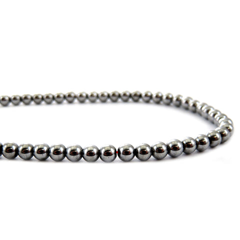 4mm Magnetic Hematite Silverplate MH27
