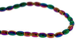 4X6mm Magnetic Hematite Rainbow Rice/Oval Mh42 - Mi Amore