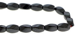 6X12mm Magnetic Hematite Twist Mh54 - Mi Amore