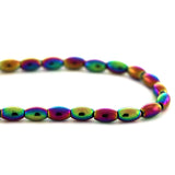 5x8mm Rainbow Rice Magnetic Hematite MH83
