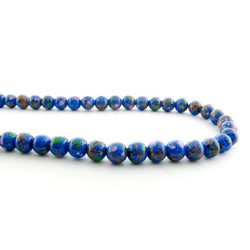 6mm Magnetic Marble Round Blue MM09