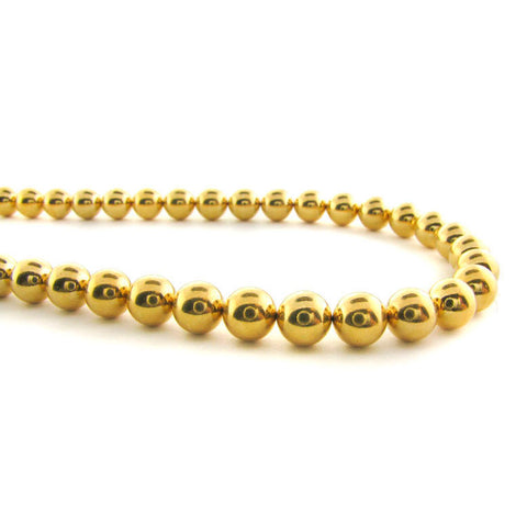 6mm Powerball Beads Gold Plated Round 100Pc PBM02