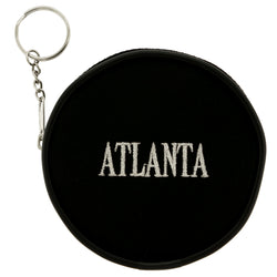 Change Purse Atlanta Split-Ring-Keychain Black & Gray Colored #311