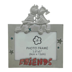 Friends Children Holds approx. 3.5x5in Photo Picture-Frame Pewter & Multi Colored #PF102