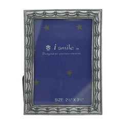Stage Curtain Holds approx. 2.5x3.5in Photo Picture-Frame Pewter Color  #PF104