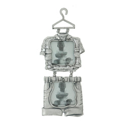Little Boy Outfit Holds approx. 2-2x2in Photo Dual-Photo-Frame Pewter Color  #PF112