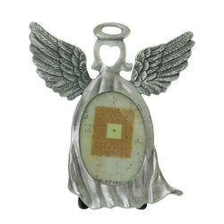 Angel Holds approx 2.5x3.5in. Photo Picture-Frame Pewter Color  #PF119