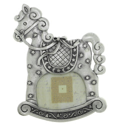 Rocking Horse Stars Holds approx. 2.5x1.75in Photo Picture-Frame Pewter Color  #PF14