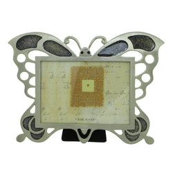 Butterfly Holds approx. 5x3.5in Photo Picture-Frame Pewter & Multi Colored #PF62