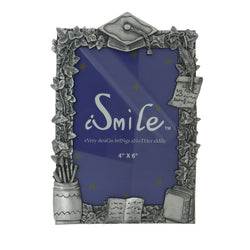 Graduation Holds approx. 4x6in Photo Picture-Frame Pewter Color  #PF74
