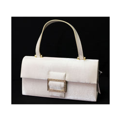 White Fashion Handbag Purse With Magnetic Snap Closure PS21W