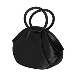 Women's Evening Bag Clutch Purse - Black Satin Classic Design Handbag PS4139BK