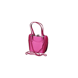 Women's Shoulder Bag - Pink Satin Clutch Purse Hand Bag PS4142P