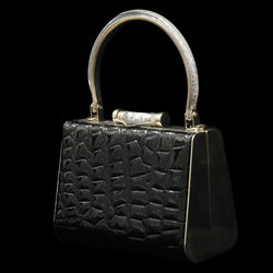 Ladies Party Bag - Shiny Leather PS5193BLK-S
