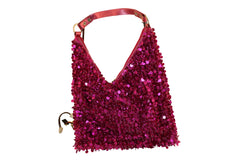 Shiny Ladies Evening Shoulder Bag - Sequin Paillette Accented Boho Chic Purse PS6107