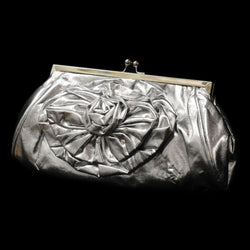 Attractive Ladies Evening Purse -Shiny Leather  - Flower Design PSK36