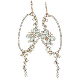 Butterfly Dangle-Earrings With Crystal Accents  Gold-Tone Color #4225