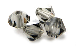 4mm Swarovski Crystals Black Diamond S4C02 - Mi Amore