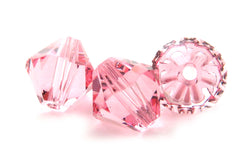 6mm Swarovski Crystals Light Rose S6C09 - Mi Amore