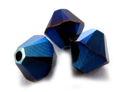 6mm Swarovski Crystals Metallic Blue 2X S6C29 - Mi Amore