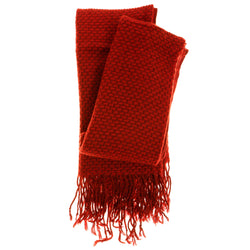 Women's Fashion Scarf - Red Lattice Crochet Design SFS02