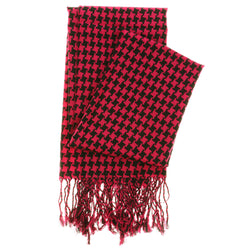 Women's Fashion Scarf - Pink and Black Design SFS03