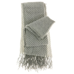 Women's Fashion Scarf - Silver Lattice Crochet Design SFS10