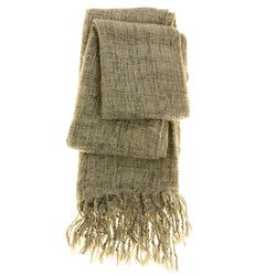 Women's Fashion Scarf - Ivory/Grey - Sweater-Like Material SFS13