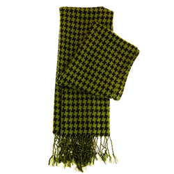 Women's Fashion Scarf - Green and Black Design SFS20