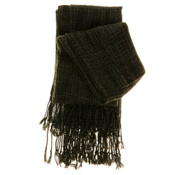 Women's Fashion Scarf - Black/Grey - Sweater-Like Material SFS22
