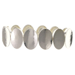 Silver-Tone Metal Stretch-Bracelet #2398