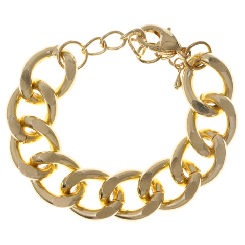 Gold-Tone Metal Fashion-Bracelet #2420