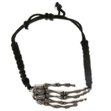 Adjustable Skeletal Hand Cord-Bracelet Black Color  #2424