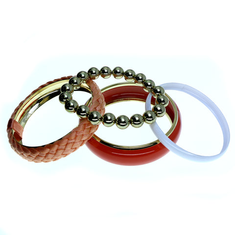 Colorful Acrylic Multiple-Bangle-Bracelet #2426