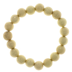 Glitter Stretch-Bracelet With Bead Accents  Gold-Tone Color #2430