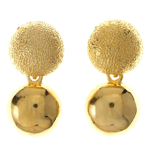 Gold-Tone Metal Dangle-Earrings #1994