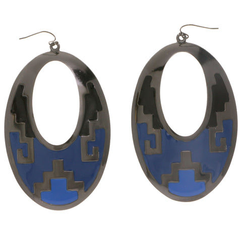Colorful Metal Dangle-Earrings #2124