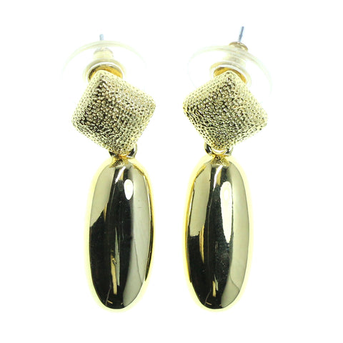 Gold-Tone Metal Dangle-Earrings #2148
