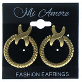 Wreath Stud-Earrings Gold-Tone Color  #612
