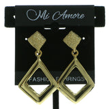 Gold-Tone Metal Dangle-Earrings #641