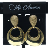 Gold-Tone Metal Dangle-Earrings #642