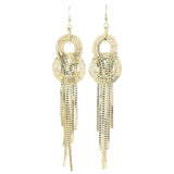 Gold-Tone Metal Dangle-Earrings #674