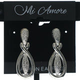 Silver-Tone Metal Dangle-Earrings #695
