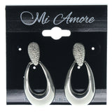 Silver-Tone Metal Dangle-Earrings #697