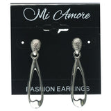 Silver-Tone Metal Dangle-Earrings #699