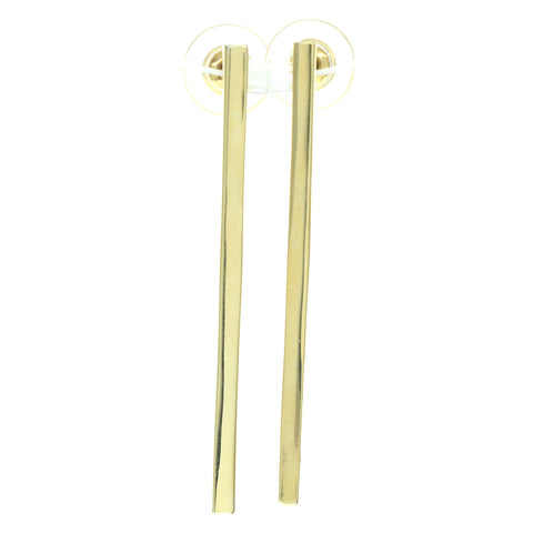 Gold-Tone Metal Dangle-Earrings #707