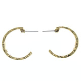 Gold-Tone Metal Hoop-Earrings #733