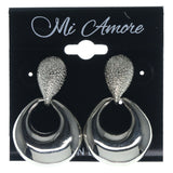 Silver-Tone Metal Dangle-Earrings #755