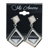 Silver-Tone Metal Dangle-Earrings #756