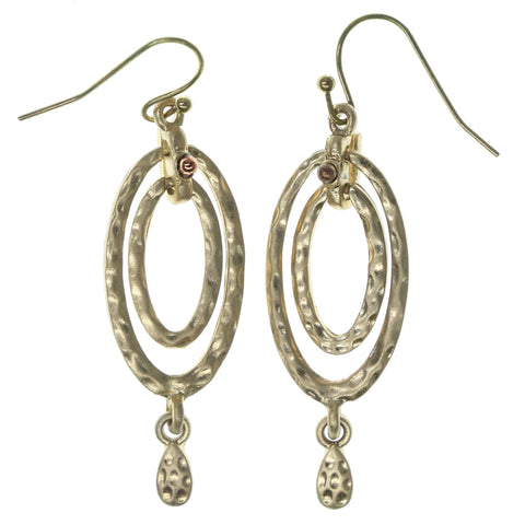 Gold-Tone Metal Dangle-Earrings #938